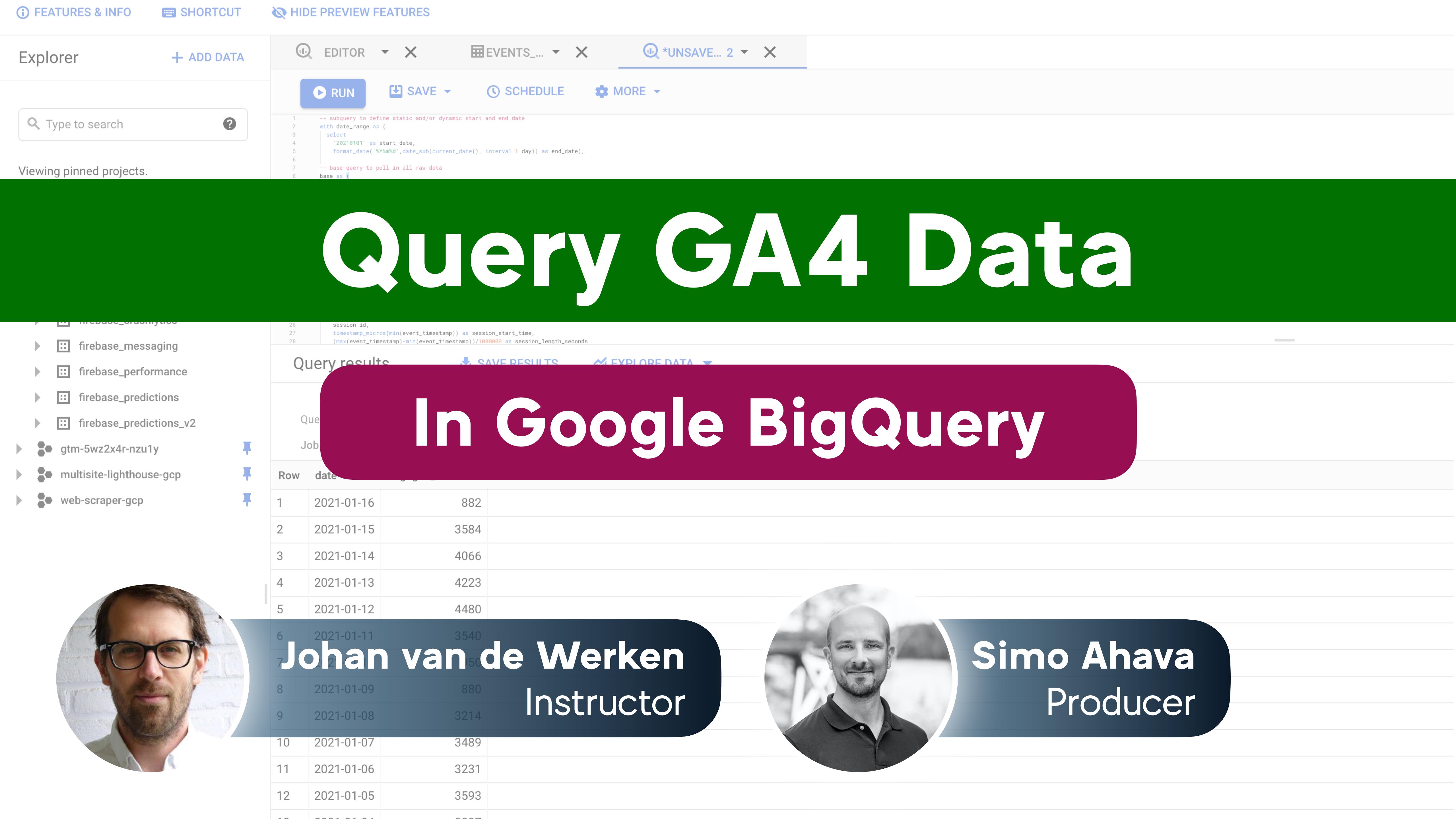 Query GA4 Data In Google BigQuery